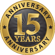 15 Year Anniversary Badge