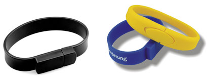 Spring USB Bracelets - USB / Flash / Web Example